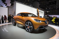 Automobile di concetto di Renault Captur Fotografie Stock