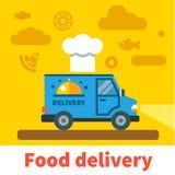 Automobile di consegna dell'alimento Fotografia Stock