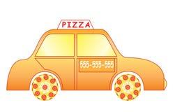 Automobile di consegna della pizza Fotografie Stock