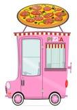 Automobile di consegna della pizza Fotografia Stock Libera da Diritti