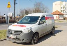 Automobile di consegna della posta Immagine Stock Libera da Diritti