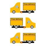 Automobile di consegna gratuita illustrazione vettoriale
