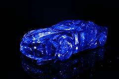 Automobile di cristallo di concetto Fotografie Stock Libere da Diritti