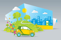 Automobile di Eco Immagine Stock