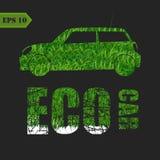 Automobile di Eco fatta del concetto delle foglie verdi Immagini Stock