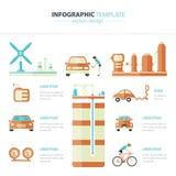 Automobile di Eco infographic Fotografia Stock