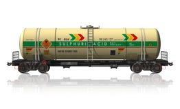 Automobile di ferrovia chimica dell'autocisterna royalty illustrazione gratis