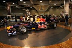Automobile di formula 1 di esposizione automatica Immagini Stock