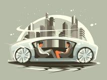 Automobile di futuro royalty illustrazione gratis
