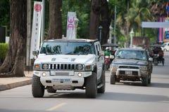 Automobile di Hummer in Siem Reap, Cambogia Fotografia Stock Libera da Diritti