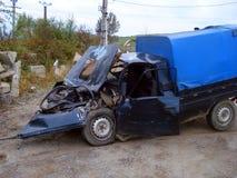 Automobile di incidente seria fotografie stock
