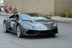 Automobile di Lamborghini Huracan su esposizione fotografia stock libera da diritti