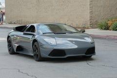Automobile di Lamborghini Murcielago su esposizione immagine stock