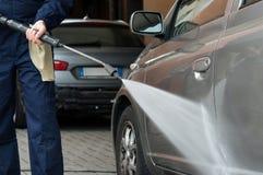 Automobile di lavaggio Fotografia Stock Libera da Diritti