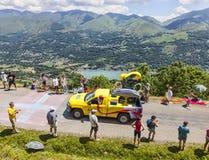 Automobile di LCL durante il caravan di pubblicità Fotografia Stock