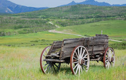 Automobile di legno antica Fotografie Stock Libere da Diritti