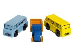 Automobile di legno d'annata o camion del giocattolo Fotografia Stock Libera da Diritti