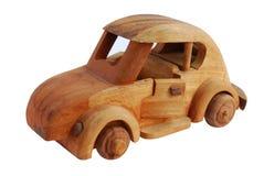Automobile di legno del giocattolo Immagine Stock Libera da Diritti