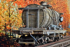 Automobile di legno dell'acqua Fotografie Stock Libere da Diritti