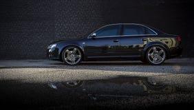 Automobile di lusso esteriore di Audi A4 Fotografia Stock Libera da Diritti