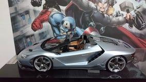 Automobile di modello piena della scala del carbonio di Lamborghini Centenario Immagini Stock Libere da Diritti