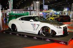 Automobile di Nissan GT-R R35 AIMGAIN su esposizione all'internazionale di Bangkok immagine stock libera da diritti