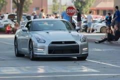 Automobile di Nissan GT-R su esposizione Fotografia Stock