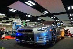 Automobile di Nissan GT-R su esposizione alla mostra di salone dell'automobile Fotografia Stock Libera da Diritti