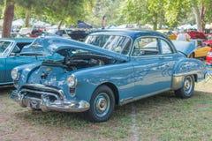 Automobile di Oldsmobile Futuramic su esposizione Fotografia Stock Libera da Diritti