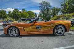 automobile 2007 di passo di 500 miglia di indianapolis di Chevrolet Corvette Immagine Stock Libera da Diritti