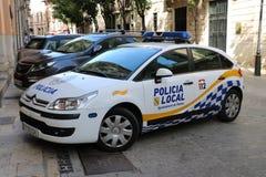 Automobile di polizia locale spagnola Immagini Stock