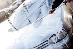 Automobile di pulizia Fotografia Stock