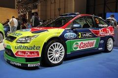 Automobile di raduno di Ford Focus WRC - salone dell'automobile 2010 di Ginevra Fotografia Stock Libera da Diritti