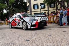 Automobile di raduno di Mitsubishi Evo immagini stock