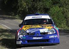 Automobile di raduno di Renault Clio Super 1600 Fotografia Stock Libera da Diritti