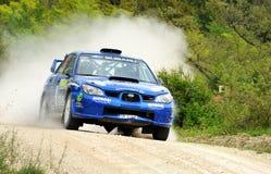 Automobile di raduno di Subaru Impreza Fotografie Stock