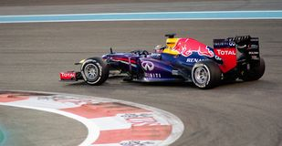 Automobile di Redbull F1, capelli Pin Turn & accelerazione Fotografia Stock