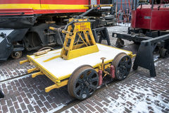 Automobile di riparazione del treno Immagine Stock Libera da Diritti