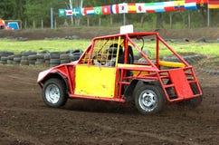 Automobile di riserva rossa Immagine Stock