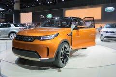 Automobile 2015 di Rover Discovery Vison Concept della terra Fotografia Stock