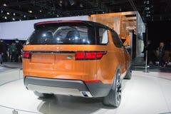 Automobile 2015 di Rover Discovery Vison Concept della terra Immagini Stock