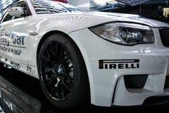Automobile di sicurezza di BMW M3 nel mondo di BMW di Monaco di Baviera Immagine Stock