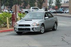 Automobile di Subaru Impreza su esposizione immagini stock libere da diritti