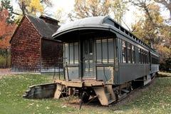 Automobile di treno all'antica Fotografia Stock