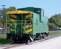Automobile di treno verde Fotografia Stock Libera da Diritti