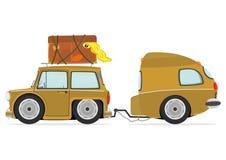 Automobile di viaggio Immagini Stock