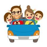 Automobile di viaggio della famiglia felice illustrazione vettoriale