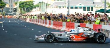 Automobile di Vodafone McLaren Mercedes F1; Mika Hakkinen Immagini Stock