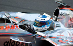 Automobile di Vodafone McLaren Mercedes F1; Mika Hakkinen Fotografie Stock