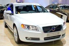 Automobile di Volvo S 80 su esposizione. Fotografie Stock Libere da Diritti